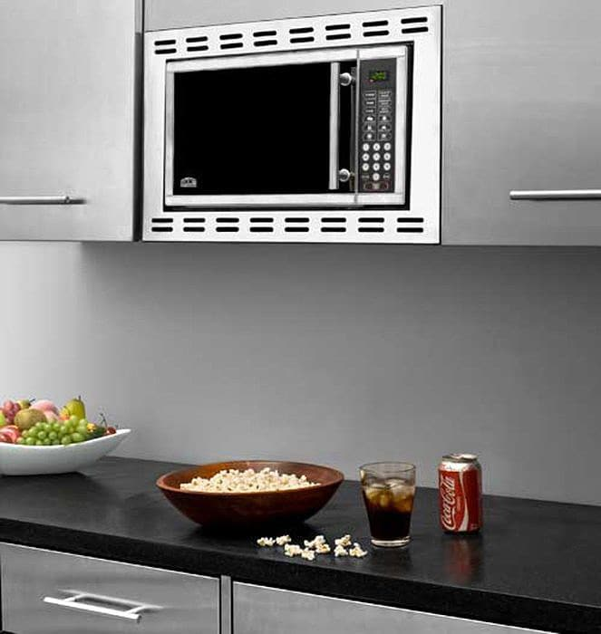 Summit otr24 19 inch built in microwave oven with 900 for Built in microwave 24 inches wide