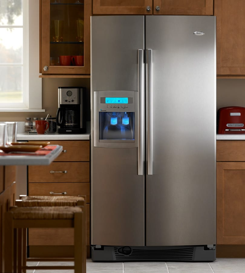 Whirlpool Gs5vhaxwy 25 6 Cu Ft Side By Side Refrigerator