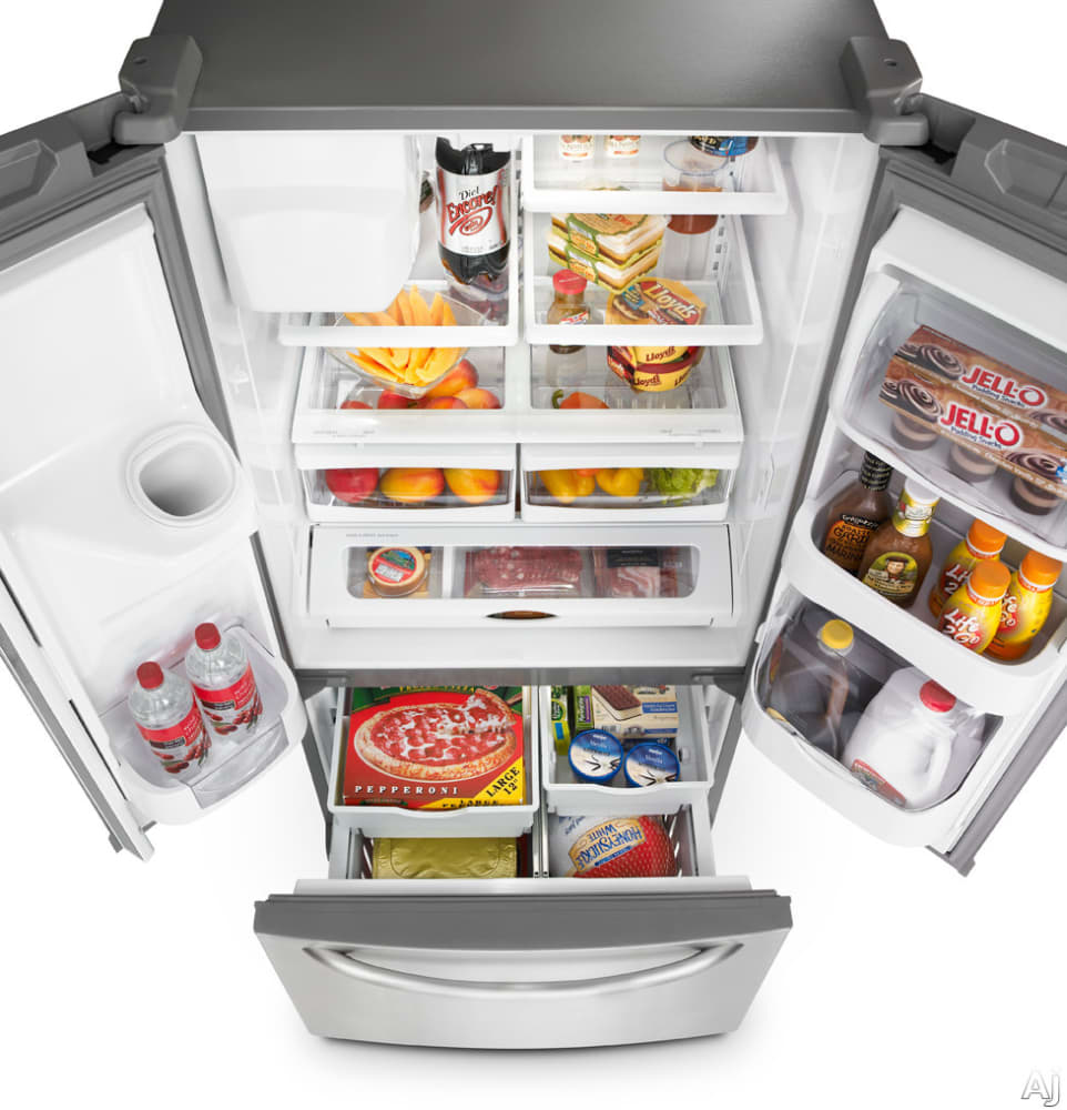 Maytag mfi2269vem 220 cu ft french door refrigerator with maytag ice2o series mfi2269vem top view rubansaba