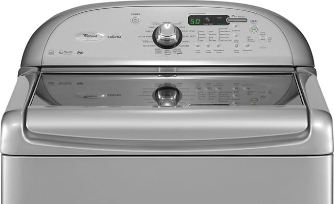 Whirlpool Wtw7800xl 27 Inch Top Load Washer With 4 0 Cu Ft Capacity 16 Wash Cycles Automatic Temperatue Soak Setting Delay Start And Led Display Lunar Silver