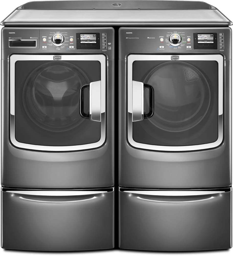 the drawer pedestal graphite pedestals white electronics depot laundry steel p home lg maytag with storage in