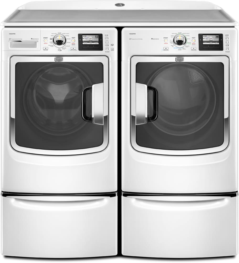 ft front and maytag pin cu maxima pedestal washer load steam