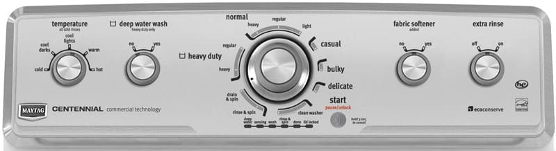 Top Load Washer Maytag Centennial Series Mvwc350aw Control Panel