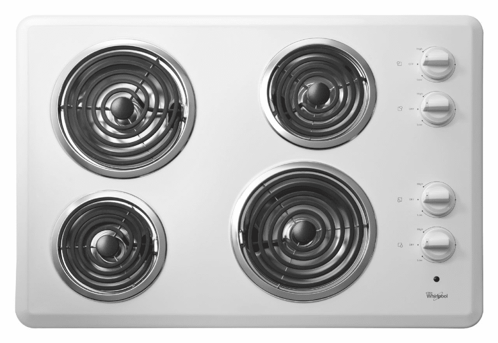 Whirlpool Wcc31430aw 30 Inch Coil Electric Cooktop With 4