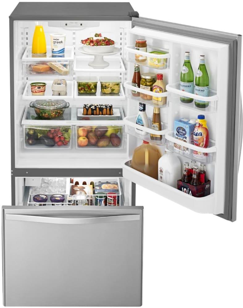 Whirlpool Wrb329dmbm 30 Inch Bottom Freezer Refrigerator