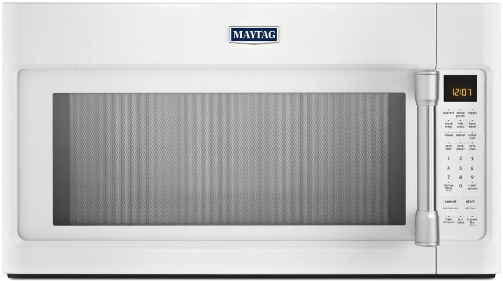 Maytag Mmv5219dh 2 1 Cu Ft Over The Range Microwave Oven With 1000 Watts 400 Cfm Venting