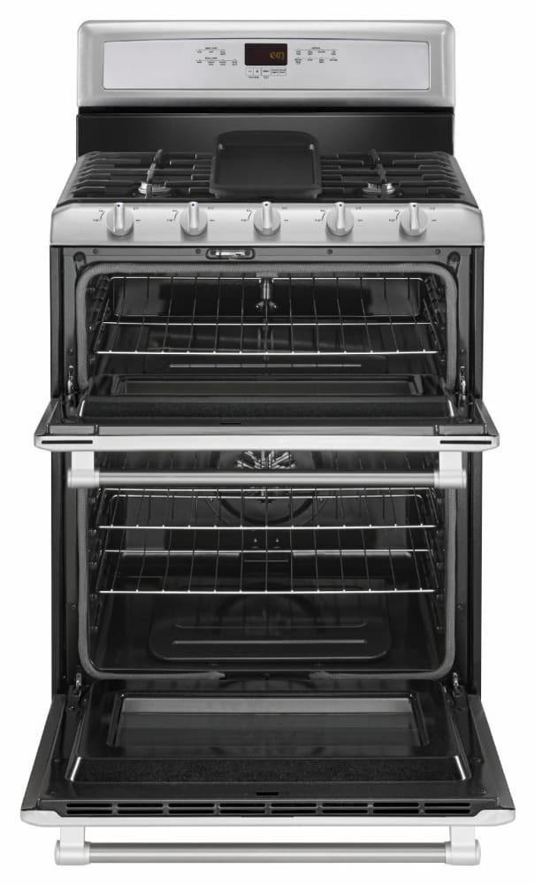 maytag heritage series mgt8820ds - stainless front maytag heritage series  mgt8820ds - stainless open