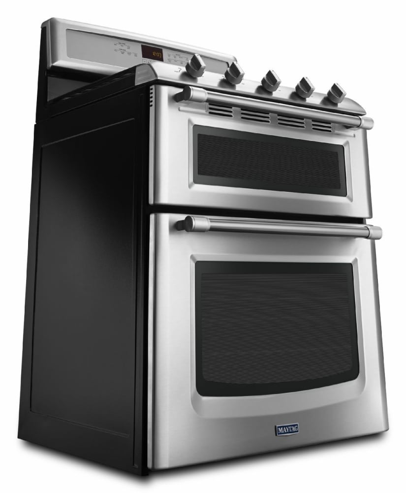 maytag mgt8820ds 30 inch freestanding double-oven gas range with 5