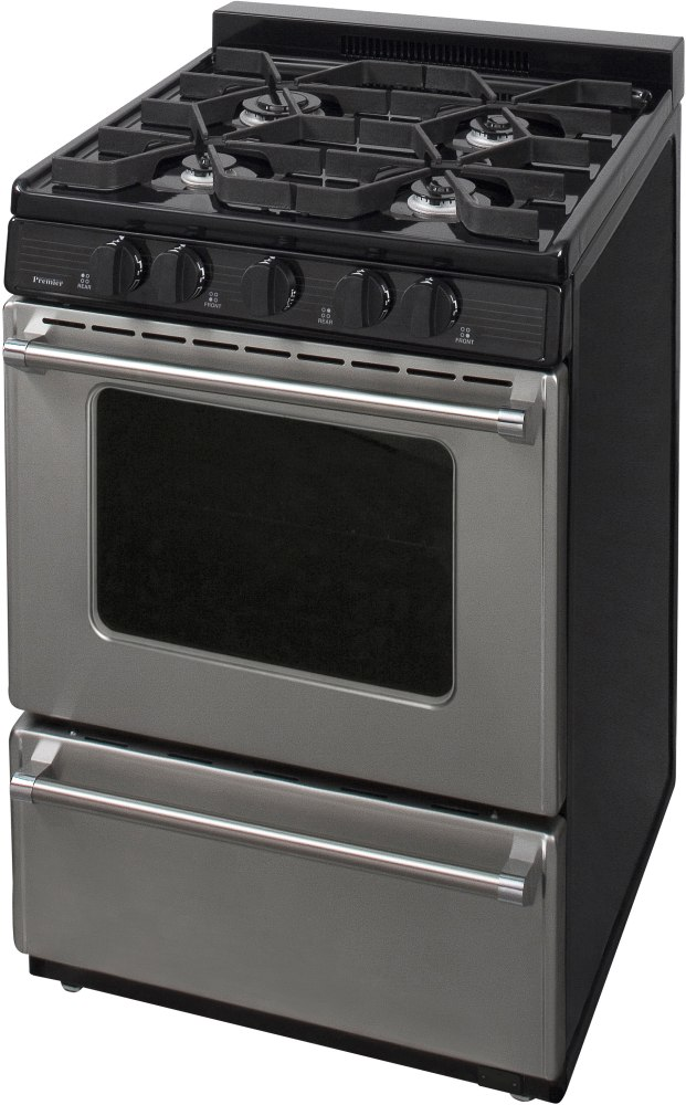Premier P24b3102p 24 Inch Freestanding Gas Range With 4