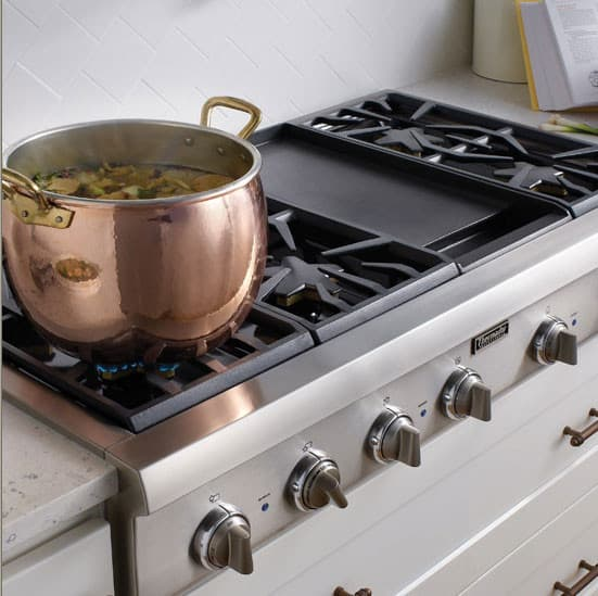 Thermador Pcg486gd 48 Inch Pro Style Gas Rangetop With 6 Pedestal Star Burners Griddle Or Grill Option Metal S Precision Simmering And Island Trim