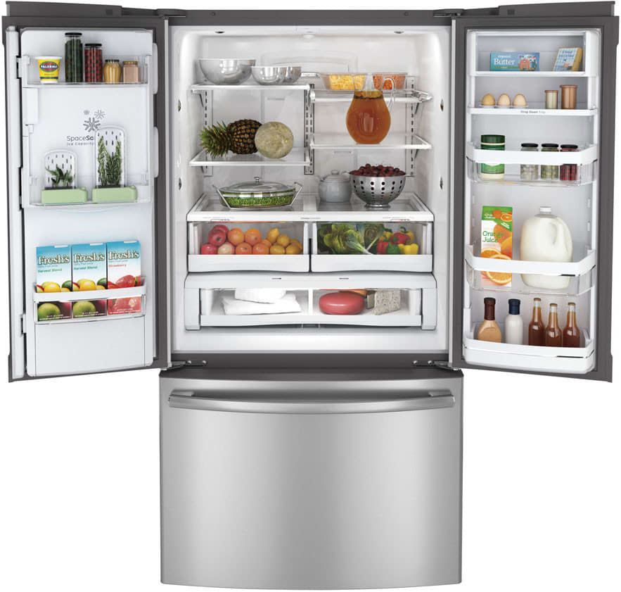 Ge pfe29psdss 29 cu ft french door refrigerator with for 29 in french