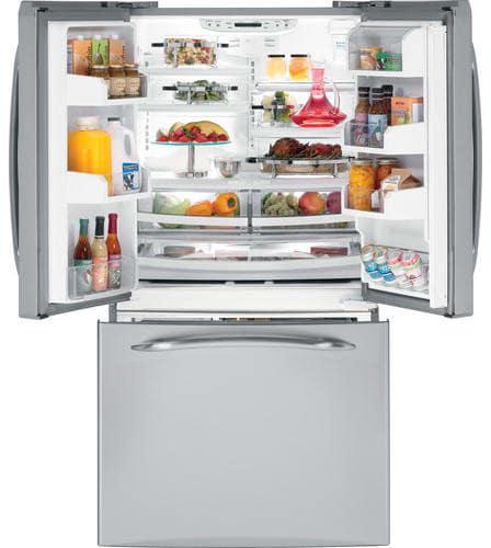 Ge Pfss5nfyss 25 1 Cu Ft Bottom Drawer Freezer