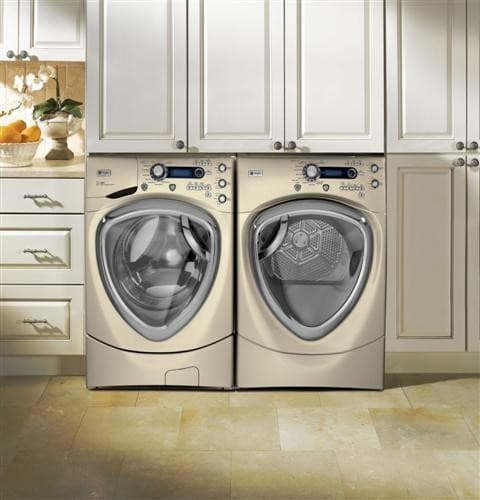 ge profile pfws4605lmg inhome view with matching dryer sold separately