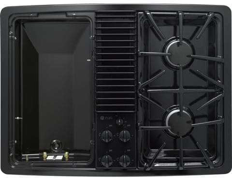 Ge Pgp990denbb 30 Inch Downdraft Gas Modular Cooktop With