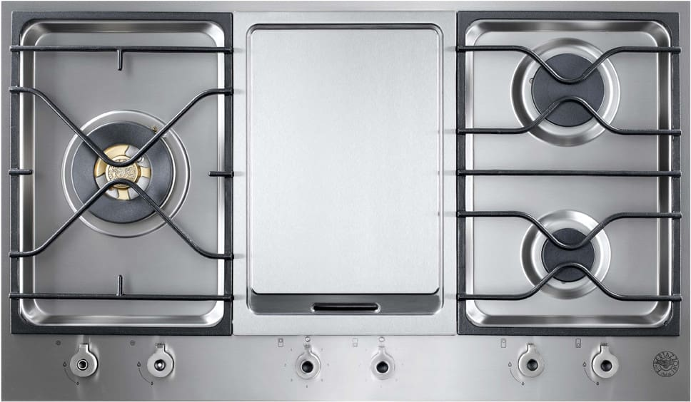 Bertazzoni Pm3630gxlp 36 Inch Segmented Gas Cooktop With 3