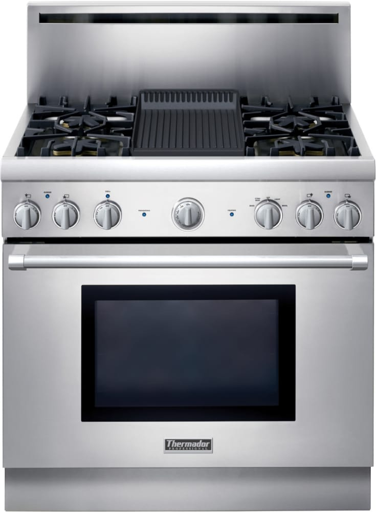 Thermador Prg364elh 36 Inch Pro Style All Gas Range With 4