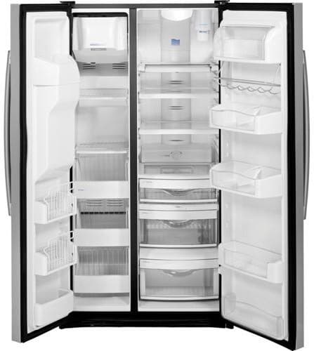 Ge Pzs23ksess 36 Inch Counter Depth Side By Side Refrigerator With 23 34 Cu Ft