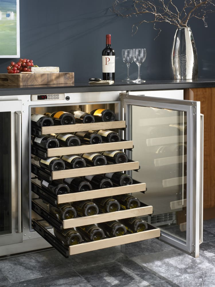 perlick h2rd5wd 48 inch built wine cooler with 48 bottle capacity