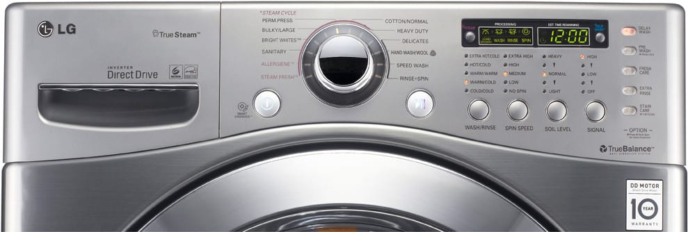 Lg Wm3360hvca 27 Inch Front Load Washer With 3 9 Cu Ft