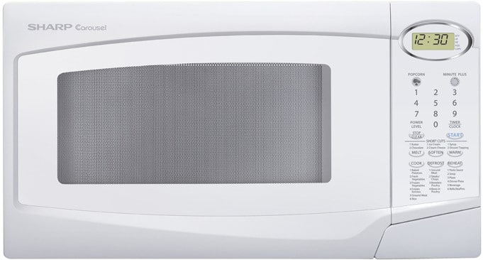 Sharp R308nw 1 0 Cu Ft Mid Size Microwave Oven With
