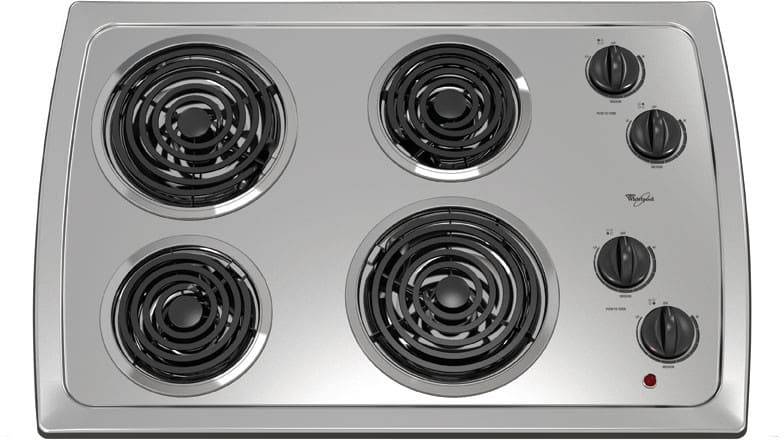 Whirlpool Rcs3014rs 30 Inch Coil Electric Cooktop With 4