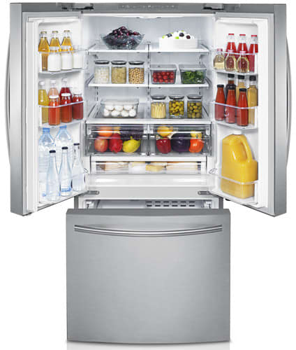 Samsung Rf220nctasp 30 Inch French Door Refrigerator With