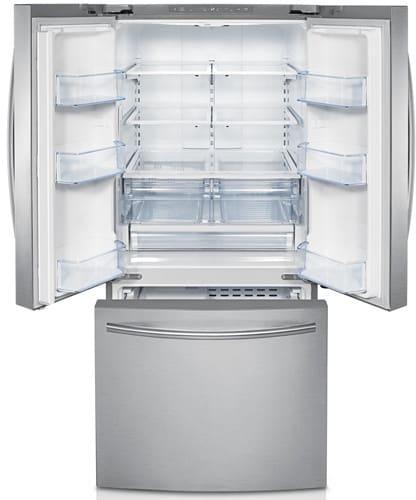 Samsung Rf221nctasr 21 8 Cu Ft French Door Refrigerator