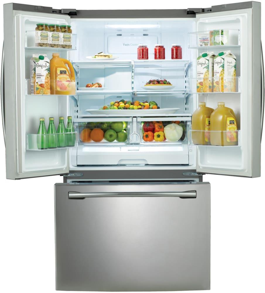 Samsung Rf261beaesr 36 Inch French Door Refrigerator With