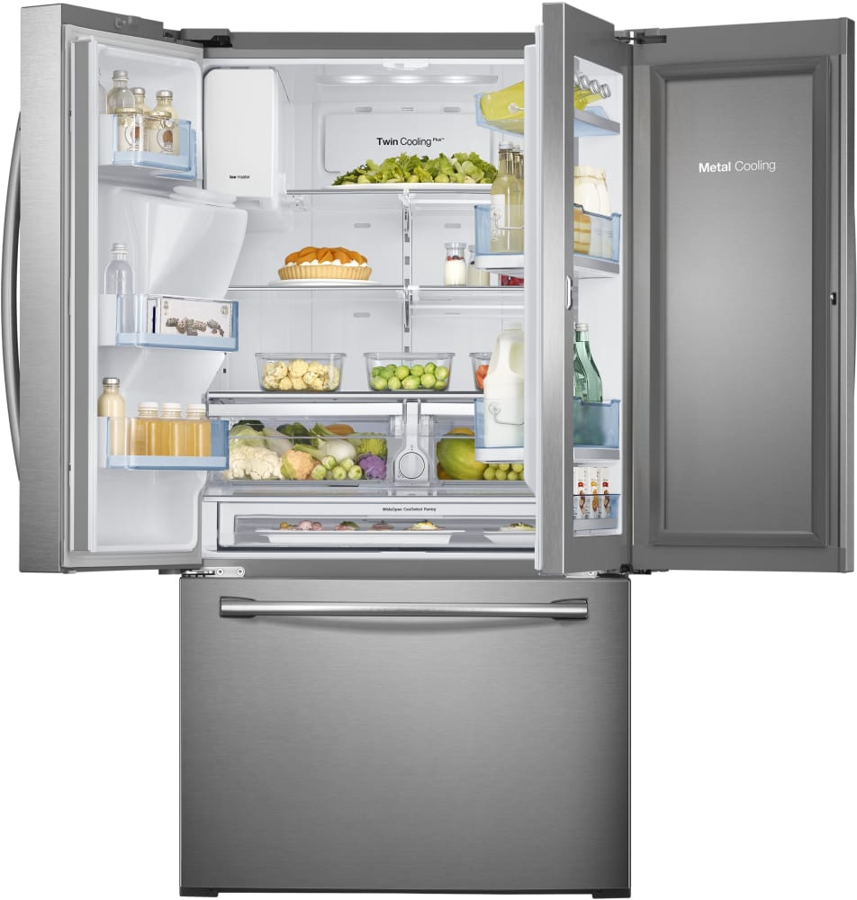 Samsung Rf30hdedtsr 36 Inch French Door Refrigerator With