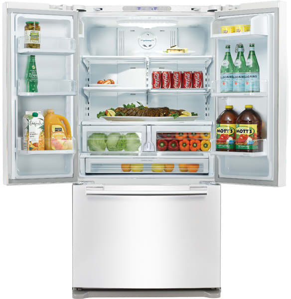 Samsung Rfg293hawp 29 Cu Ft French Door Refrigerator