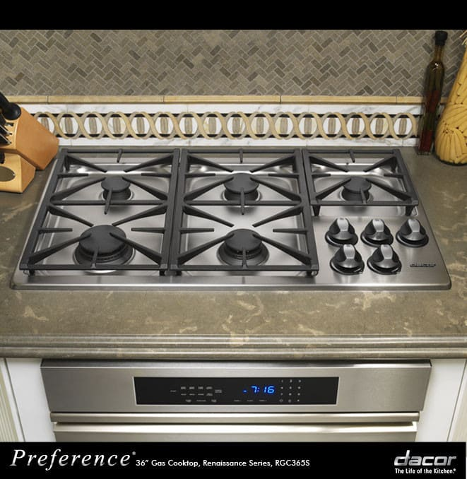 Dacor Rgc365sng 36 Inch Gas Cooktop With 5 Sealed Burners