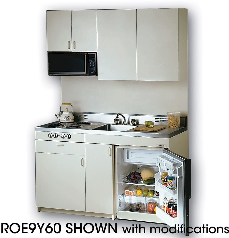 Black Kitchen Units Sale: Acme ROE9Y60 Compact Kitchen With Stainless Steel