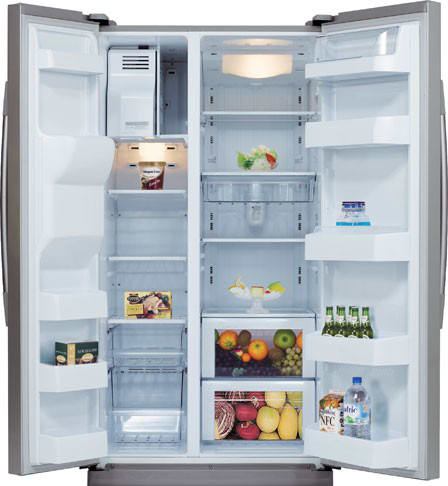 Samsung Rs2530bsh 25 0 Cu Ft Side By Side Refrigerator