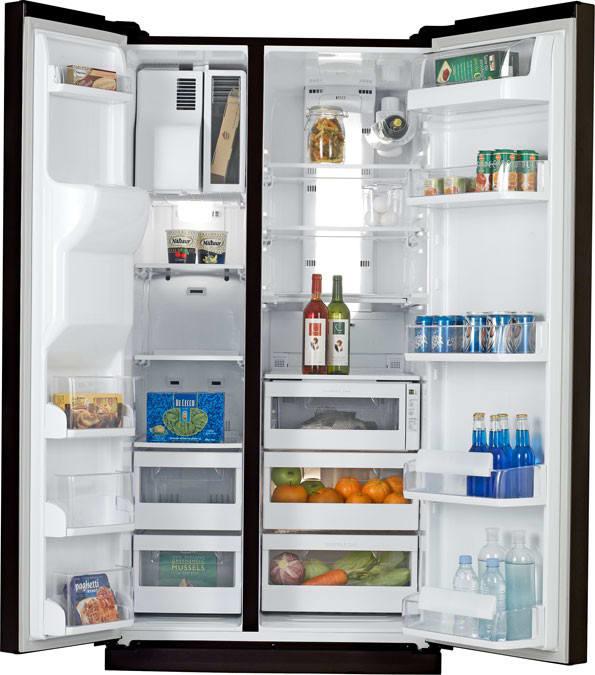 Samsung Rs277acbp 27 0 Cu Ft Side By Side Refrigerator