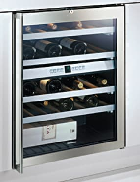 gaggenau rw404760 24 inch dual zone wine cellar with 41 bottles capacity 4 racks interior. Black Bedroom Furniture Sets. Home Design Ideas