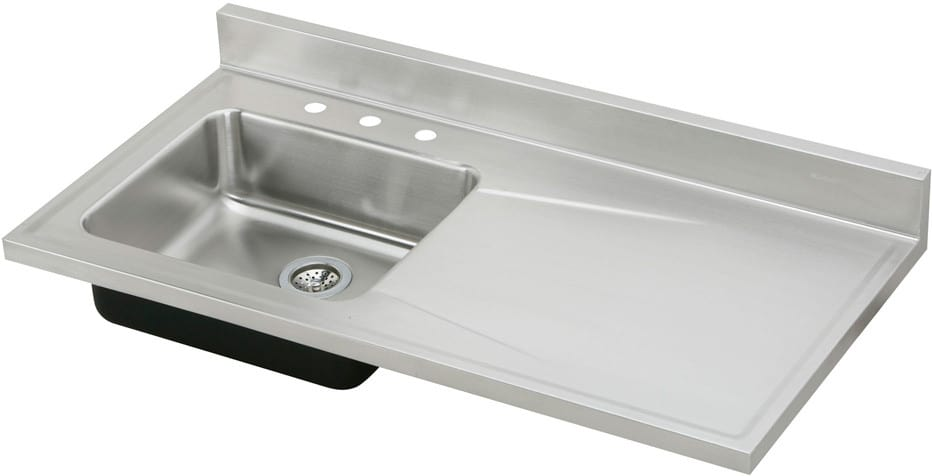 Elkay Ertone Collection S4819l3 48 Inch Single Bowl Stainless Steel Sink