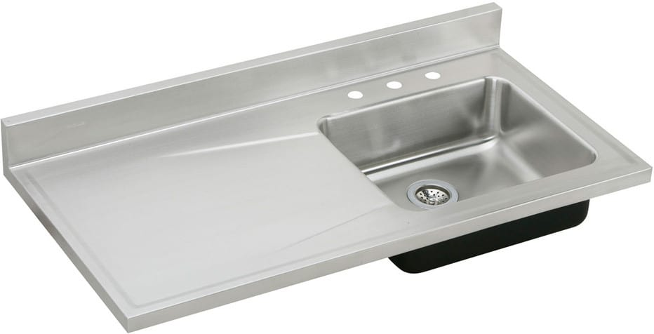full depth kitchen sink elkay s4819r3 48 inch single bowl stainless steel sink top 3663