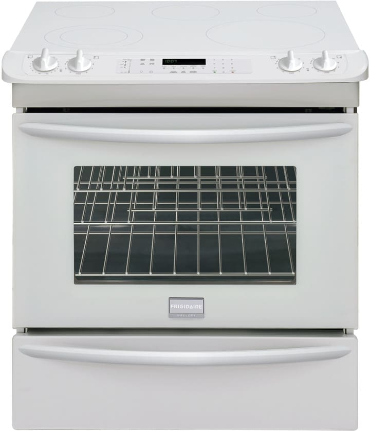 Frigidaire Fges3045kw 30 Inch Slide In Smoothtop Electric