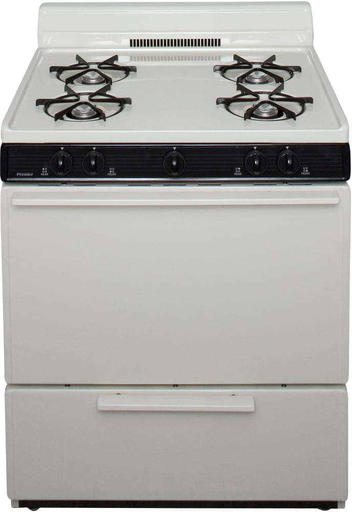 Premier SFK100TP 30 Inch Freestanding Gas Range with 4 Open Burners ...