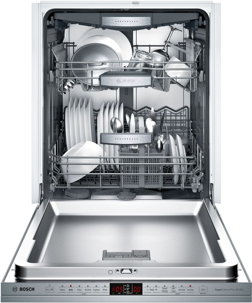 bosch shx9pt55uc fully integrated dishwasher with 3rd rack. Black Bedroom Furniture Sets. Home Design Ideas