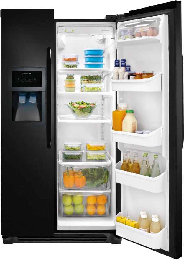 Frigidaire ffhs2322mb 33 inch side by side refrigerator with 221 cu frigidaire ffhs2322mb black frigidaire ffhs2322mb interior view asfbconference2016 Image collections