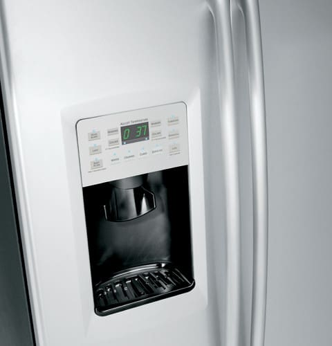 GE PSF26MGWBB 25.6 Cu. Ft. Side By Side Refrigerator With