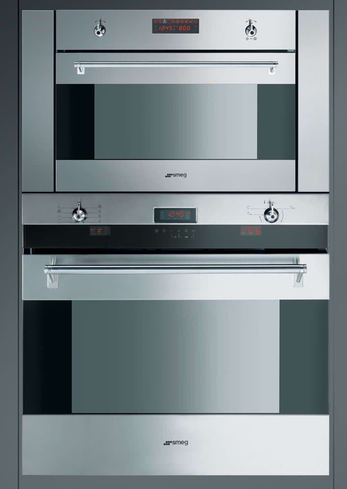 Smeg Su45mcx 24 Inch Electric Speed Oven With 1 34 Cu Ft