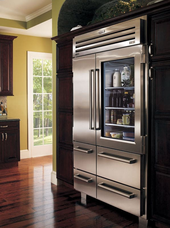 Commercial Side By Side Refrigerator Freezer Sub-Zero 648PROG 48 Inch Built-in Side-by-Side ...