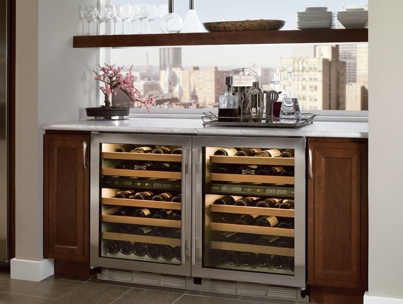 sub zero 424gsthlh 24 inch undercounter dual zone wine. Black Bedroom Furniture Sets. Home Design Ideas