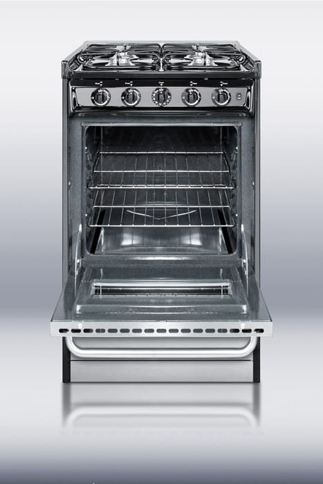 Summit Tlm11027bfrwy 20 Inch Slide In Gas Range With 4