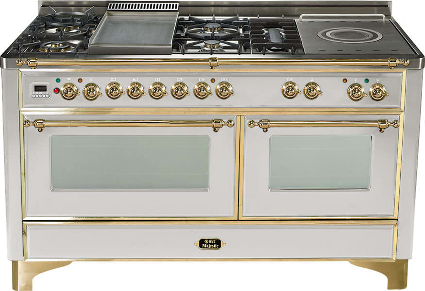 Ilve Um150fsmpi 60 Inch Traditional Style Dual Fuel Range