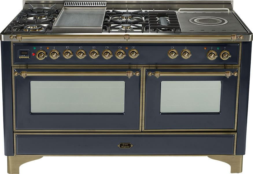 Ilve Um150smpmy 60 Inch Traditional Style Dual Fuel Range