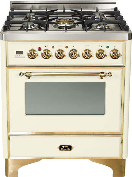 Triple C Auto Sales >> Ilve UM76DVGGA 30 Inch Traditional-Style Gas Range with 5 Open Burners, Dual Triple Flame Burner ...