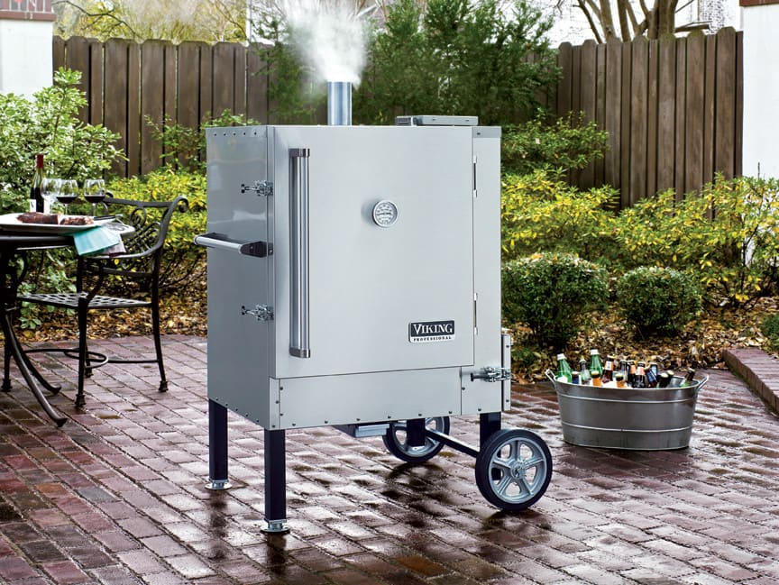 Viking VCPSSS Inch Portable Outdoor Gravity Feed Charcoal - Viking smoker